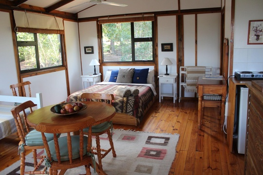 Treehouse Cottage open plan bedroom